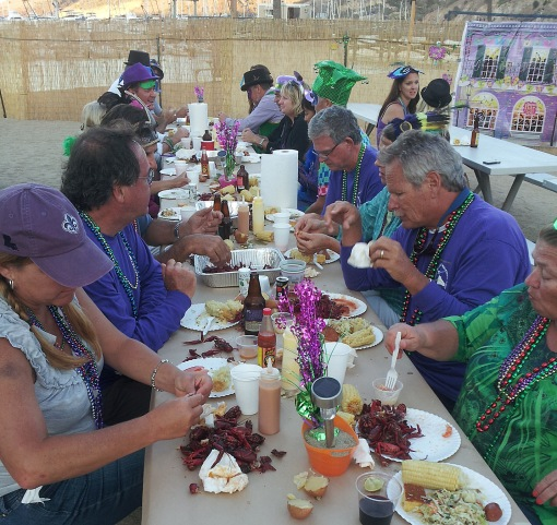 Mardi Gras night at the Multihull Rally