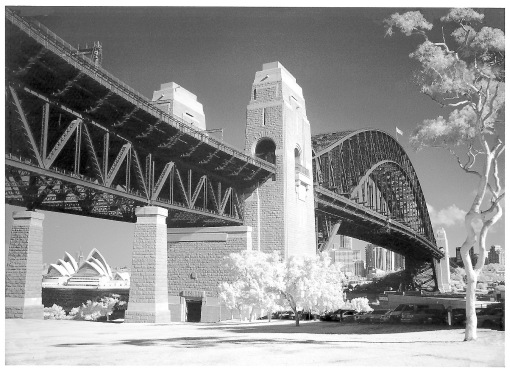 Sydney Harbour Bridge entrance from a print I purchased at the Bridge Climb.