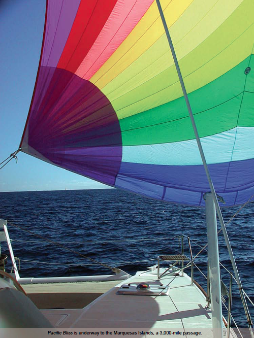 Spinnaker of Pacific Bliss