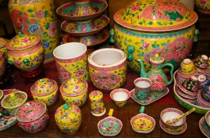 Pottery in a Melakan gift shop