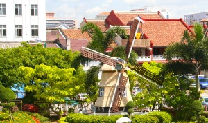 Dutch windmill at Melaka Town Square