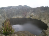Black crater lake