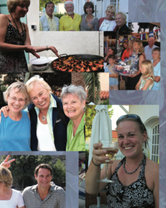 Friends and family joined our circumnavigation party in France.