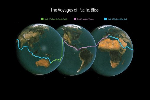 Pacific Bliss Circumnavigation map
