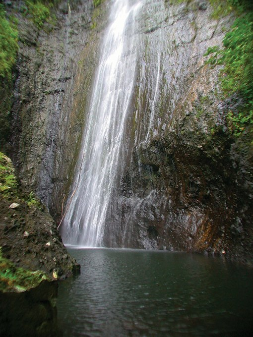 waterfall in Fatu Hiva, Marquesas Islands, French Polynesia