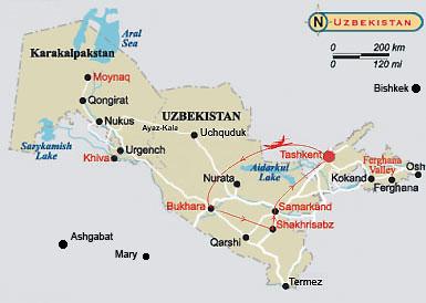 Uzbekistan with Tashkent
