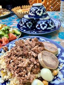 Tashkent sausage at garden restaurant