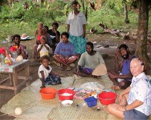 The locals in Vureas Bay, Vanuatu threw us a Prop Party.