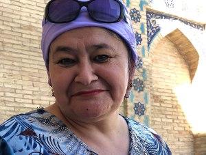 An English teacher from Tashkent visits Nurata.