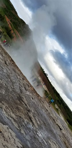 Strokkur the churn geyser Iceland. Photo by Holly Ricke.