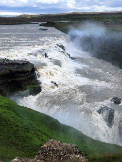 Gullfoss Iceland top of the falls