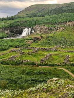 Ancient Viking encampment in Iceland