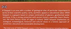 Sign for SAGA Geopark