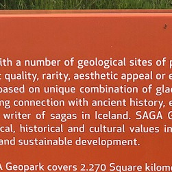 Sign for SAGA Geopark
