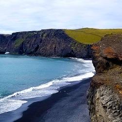 Dyrhólaey promontory and black sand beach
