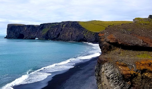 Dyrhólaey promontory and black sand beach