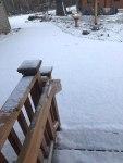 April Snow White Ash Lake Wisconsin