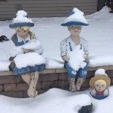 Swedish couple in winter
