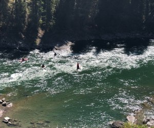 Kayakers on Snake River
