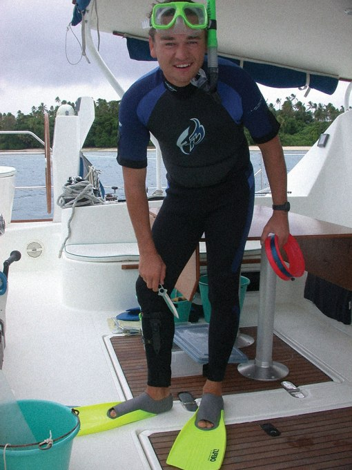 Helmut snorkeling