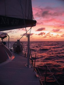 Pacific Bliss sails to the next island in Fiji