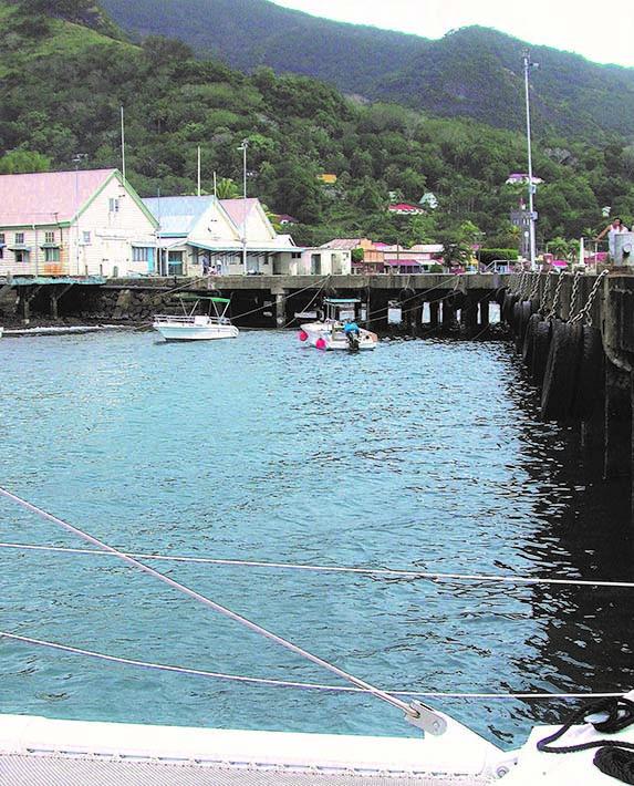 Pacific Bliss docks in Levuka, Fiji