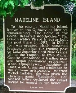 Madeline Island Road Sign