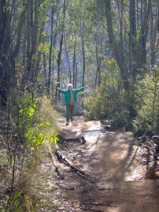 Gunter on the path to Bridal Falls