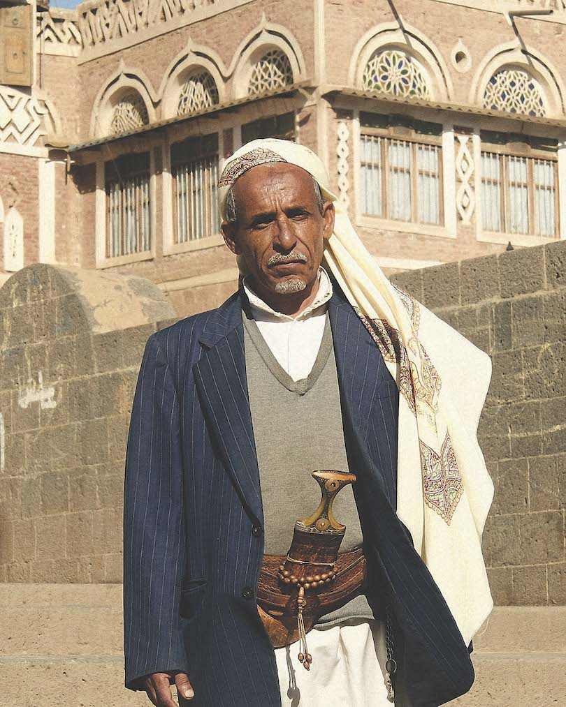 Sana'a resident in traditional dress, page 278, The Long Way Back